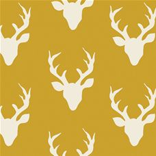 Hello Bear Buck Forest Mustard - Art Gallery Fabric 44in/45in Per Metre