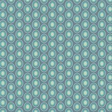 Oval Elements Vintage Blue - Art Gallery Fabric 44in/45in Per Metre