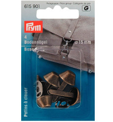 Prym Base Nails For Bags Antique Brass 15mm 4pcs