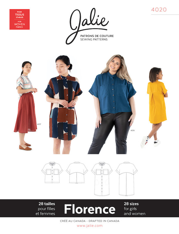 Florence Shirt and Shirtdress Pattern by Jalie