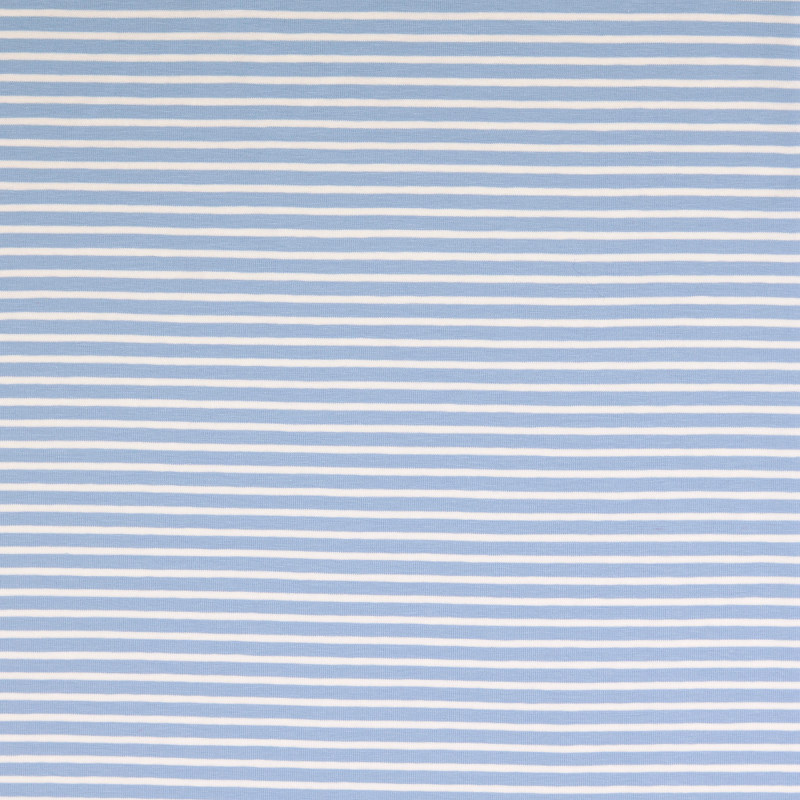 Nantes Blue and White Striped Knit Fabric