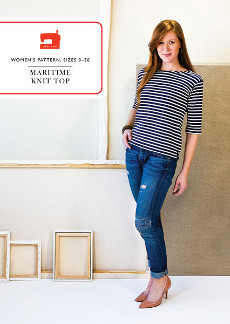 Maritime Knit Top - Liesl + Co Pattern