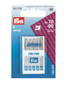 Prym Sewing Machine Needles Jersey 70/80/90 Asstd 5 Needles