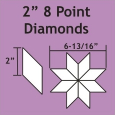 2in 8 Point Diamond Small Pack 75 Pieces - Paper Piecing