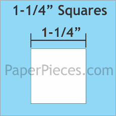 1 - 1/4in Squares Small Pack 100 Complete Pieces - Paper Pieces