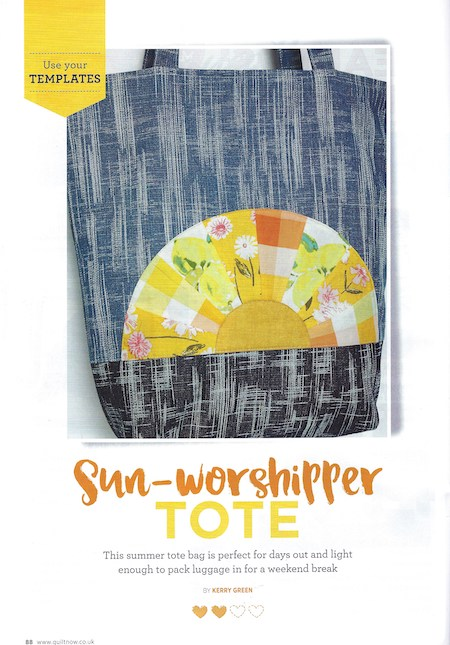 Quilt Now Issue 66 - Sun-worshipper Tote