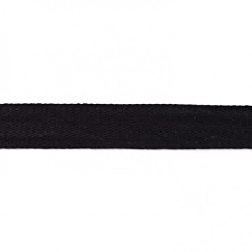 Black Washed Cotton Twill Tape - 25mm X 50m