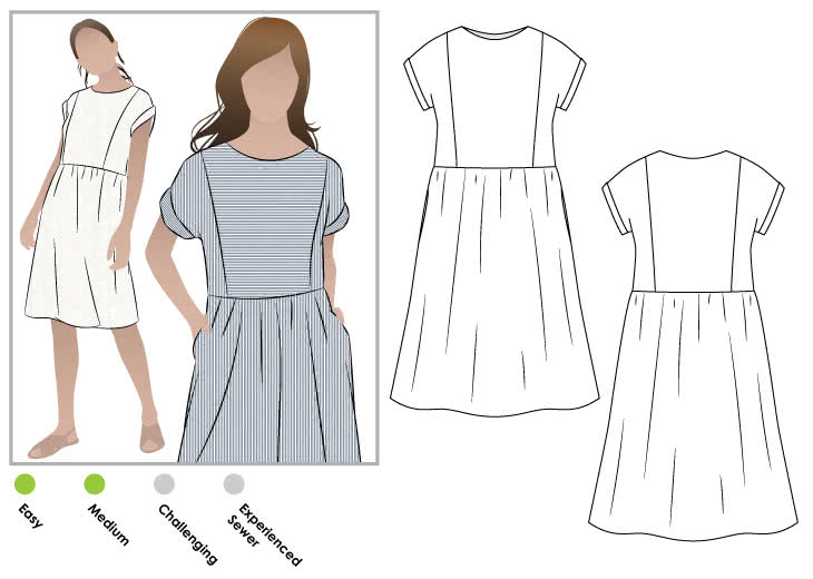 Lacey Dress Pattern Size 4-16 By Style Arc