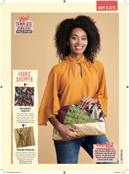 Sew Magazine Issue 130 - Patchwork Clutch