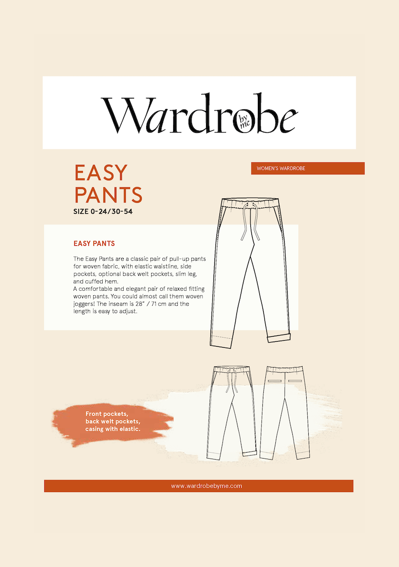 Easy Pants Pattern by Wardrobe By Me