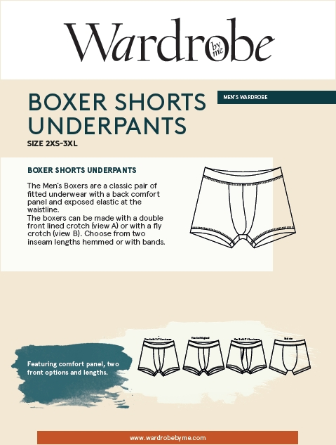 Mens Boxer Briefs Pattern by Wardrobe By Me