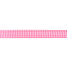 Fuchsia Gingham Ribbon - 10mm X 47.5m