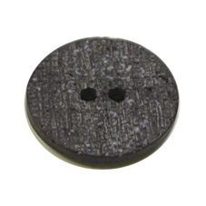Acrylic Button 2 Hole Textured Speckle 15mm Slate