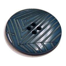 Acrylic Button 4 Hole Deep Ridged 25mm Deep Blue
