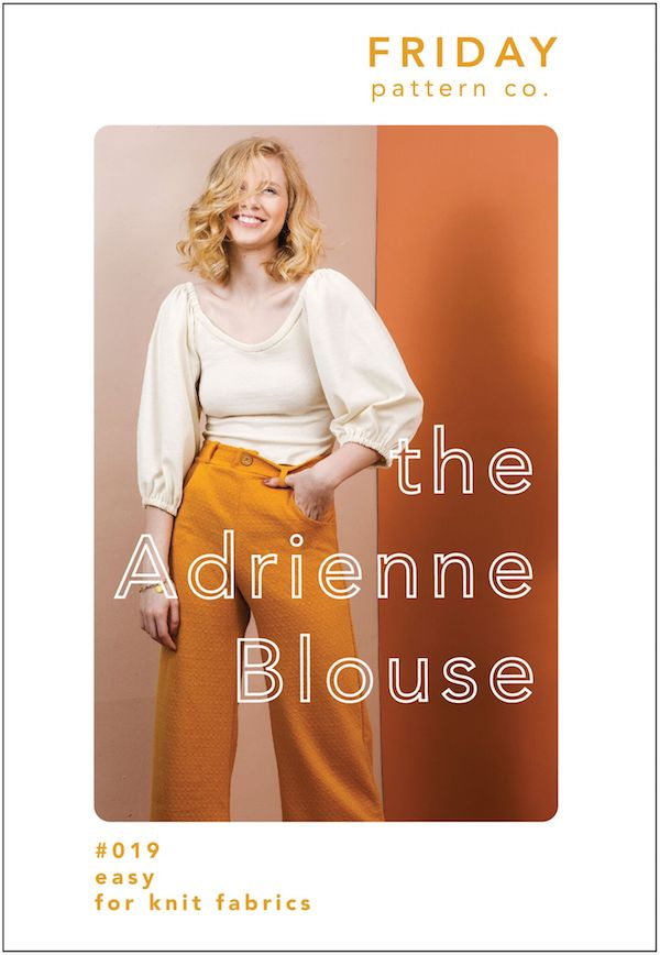 Adrienne Blouse Pattern - Friday Pattern Company