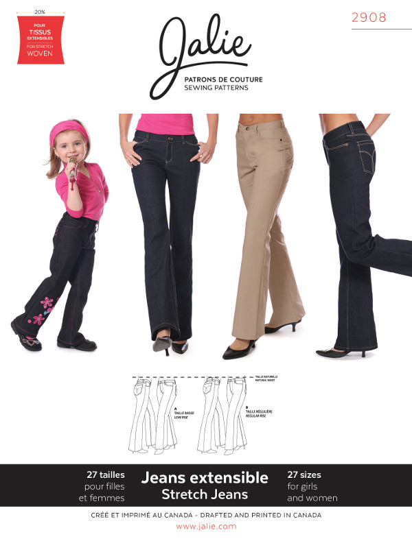 Womens Stretch Jeans Pattern - Jalie Patterns