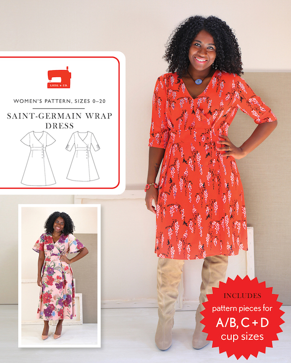 Saint-Germain Wrap Dress Pattern by Liesl + Co