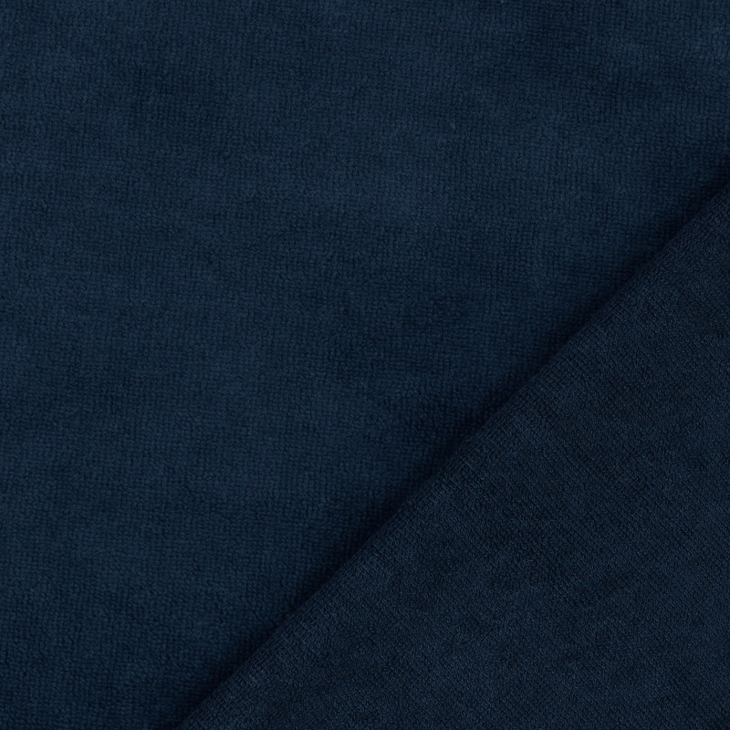 Navy Bamboo Blend Towelling Fabric