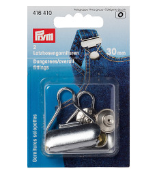 Prym Dungarees/overall Fittings 30mm Silver Coloured - 2 Pieces