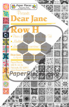 Dear Jane Quilt Paper Piece Pack Row H - Paper Piecing