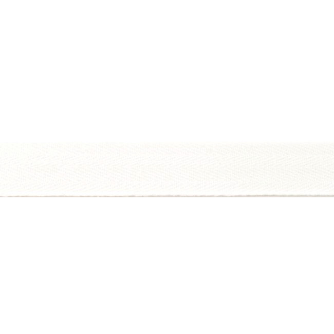 Off White Washed Cotton Twill Tape - 25mm X 50m