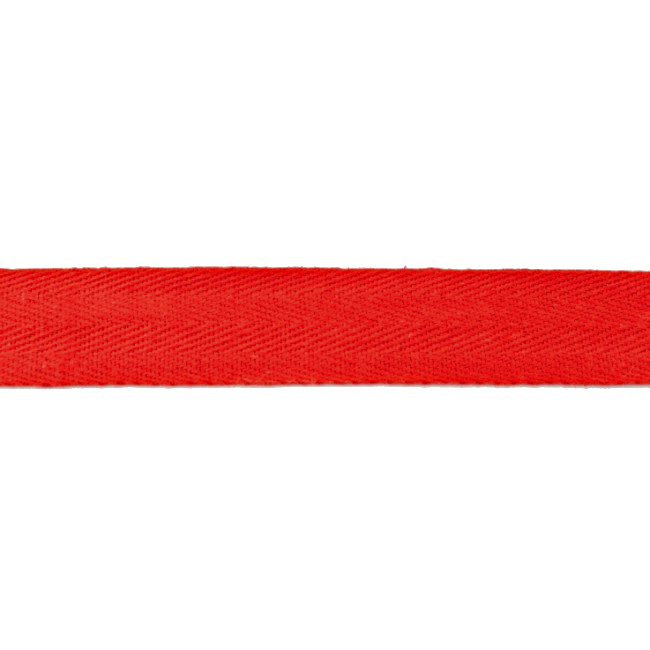 Red Washed Cotton Twill Tape - 25mm X 50m