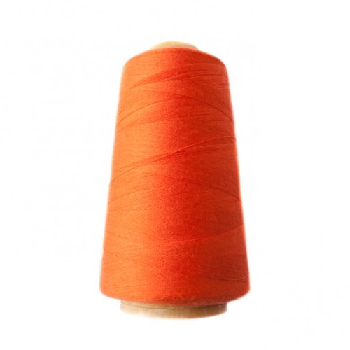 Hantex Overlocker Thread - Orange - 100% Polyester 3000 Yrds (2700+m)