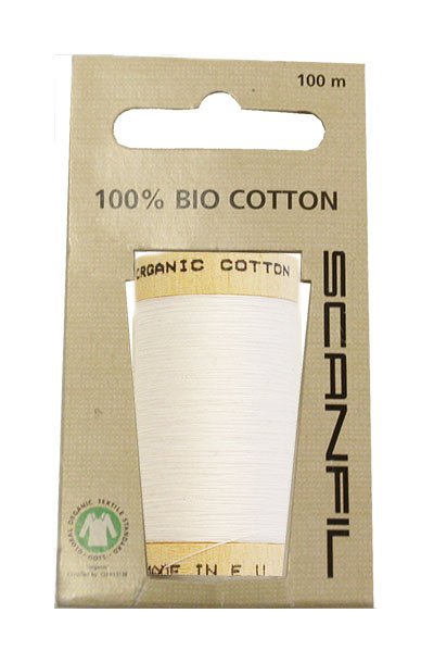 Scanfil Organic Thread 100 Metre Hang-sell - White