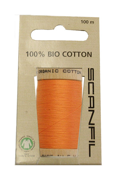 Scanfil Organic Thread 100 Metre Hang-sell - Tangerine