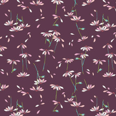 Playground He Loves Me Plum Voile - Art Gallery Fabric 52in/53in Per Metre