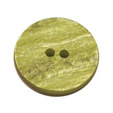 Acrylic Button 2 Hole Textured Without Gloss 15mm Lime