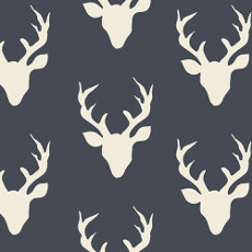 Hello Bear Buck Forest Twilight Knit - Art Gallery Fabric 58in/60in Per Metre