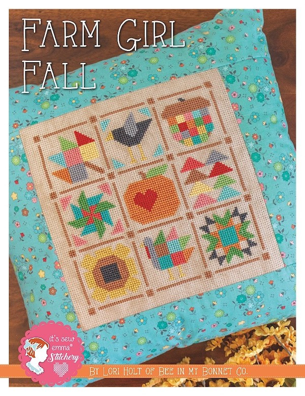 Farm Girl Fall Cross Stitch Pattern - Lori Holt