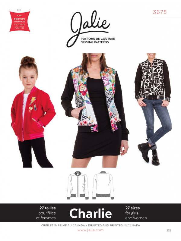 Charlie Bomber Jacket Pattern - Jalie Patterns