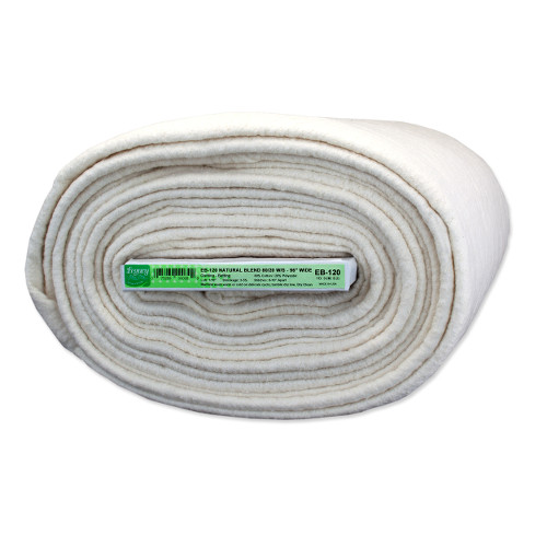 Legacy 80% Cotton/ 20% Polyester Wadding - Needle Punched With Scrim - 304cm (120in) X 9.2m (10yds)