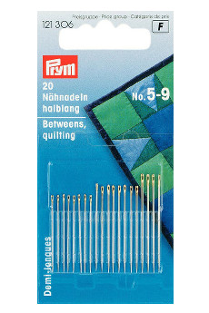 Prym Hand Sewing Needles Betweens 5-9 Assorted With Gold Eye 20pcs