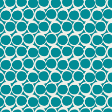 Round Elements Vintage Teal - Art Gallery Fabric 44in/45in Per Metre
