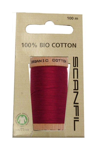 Scanfil Organic Thread 100 Metre Hang-sell - Burgundy