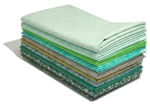 10 x 1 Metre Fabric Bundle - Green