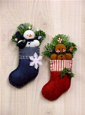 Frosty & Ginger Ornaments - Countryside Crafts Felt Pattern