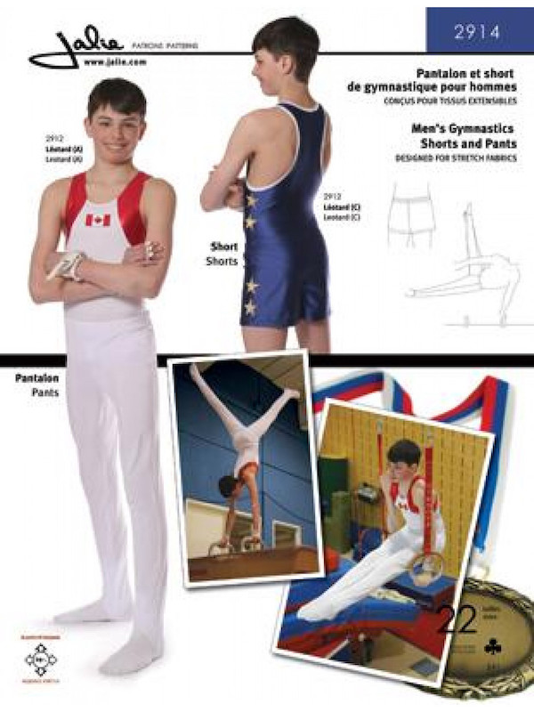 Men and Boys Gymnastics Pants and Shorts Pattern by Jalie