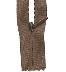 Make A Zipper Invisible - 162in Long With 12 Zipper Pulls - Brown
