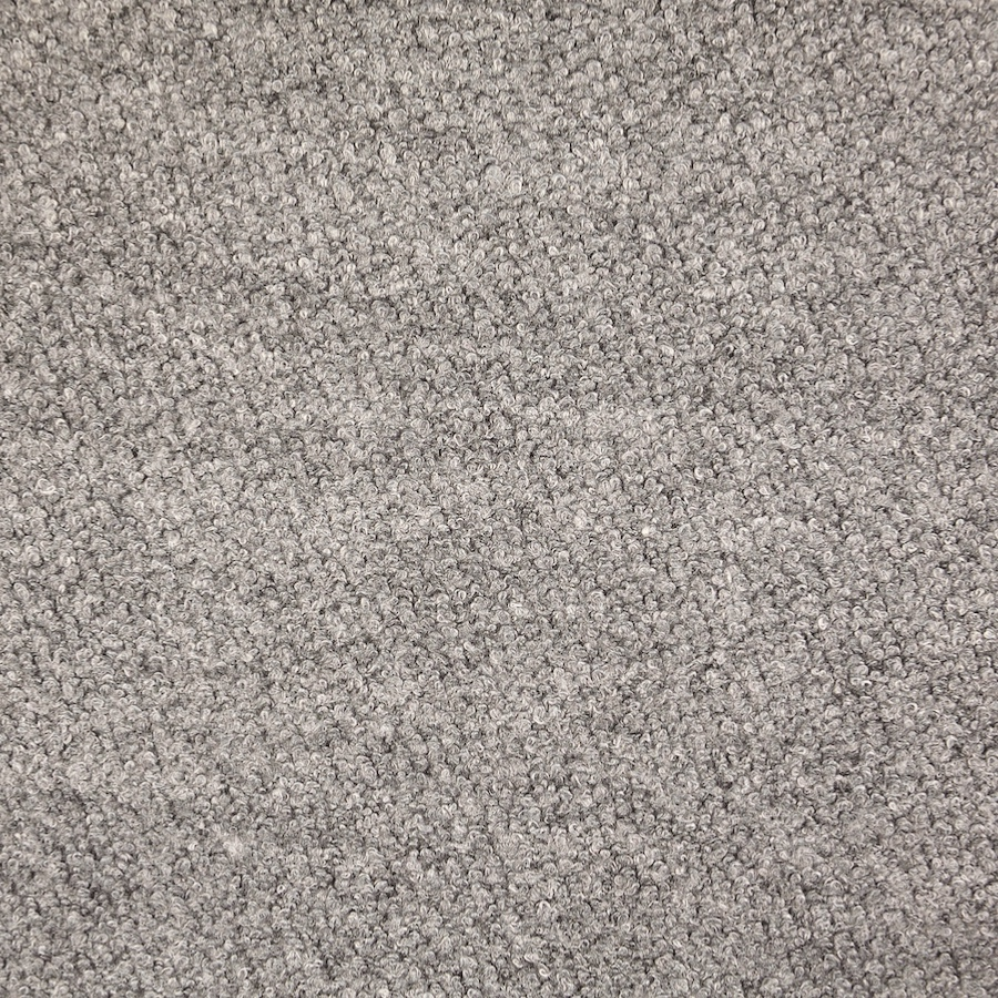 Light Grey Wool Blend Boucle Coat Fabric