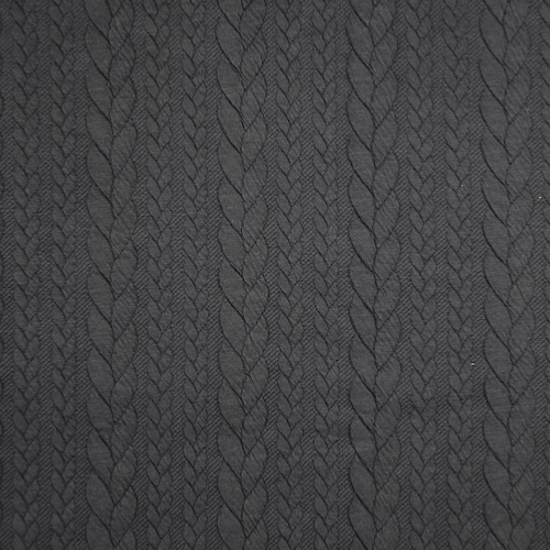 Barso Black Cable Jacquard Knit Fabric
