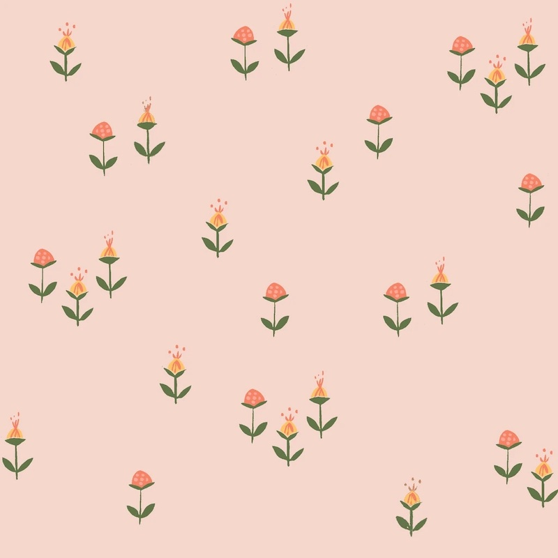 Clover Pink From Vintage 74 By Monaluna Fabrics