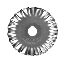 Kai Pinking Cutter Blade 45mm (fits Olfa cutters)