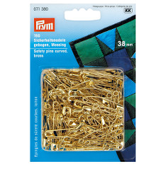Prym Curved Gold Safety Pins Sz 2 38mm 150 Count