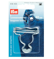 Prym Dungarees Buckles 40mm Silver Coloured - 2 Pieces