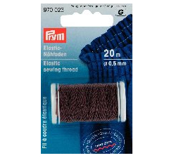 Brown Elastic Sewing Thread / Shirring, O.5mm X 20m