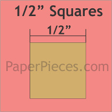 1/2in Squares Small Pack 100 Complete Pieces - Paper Pieces